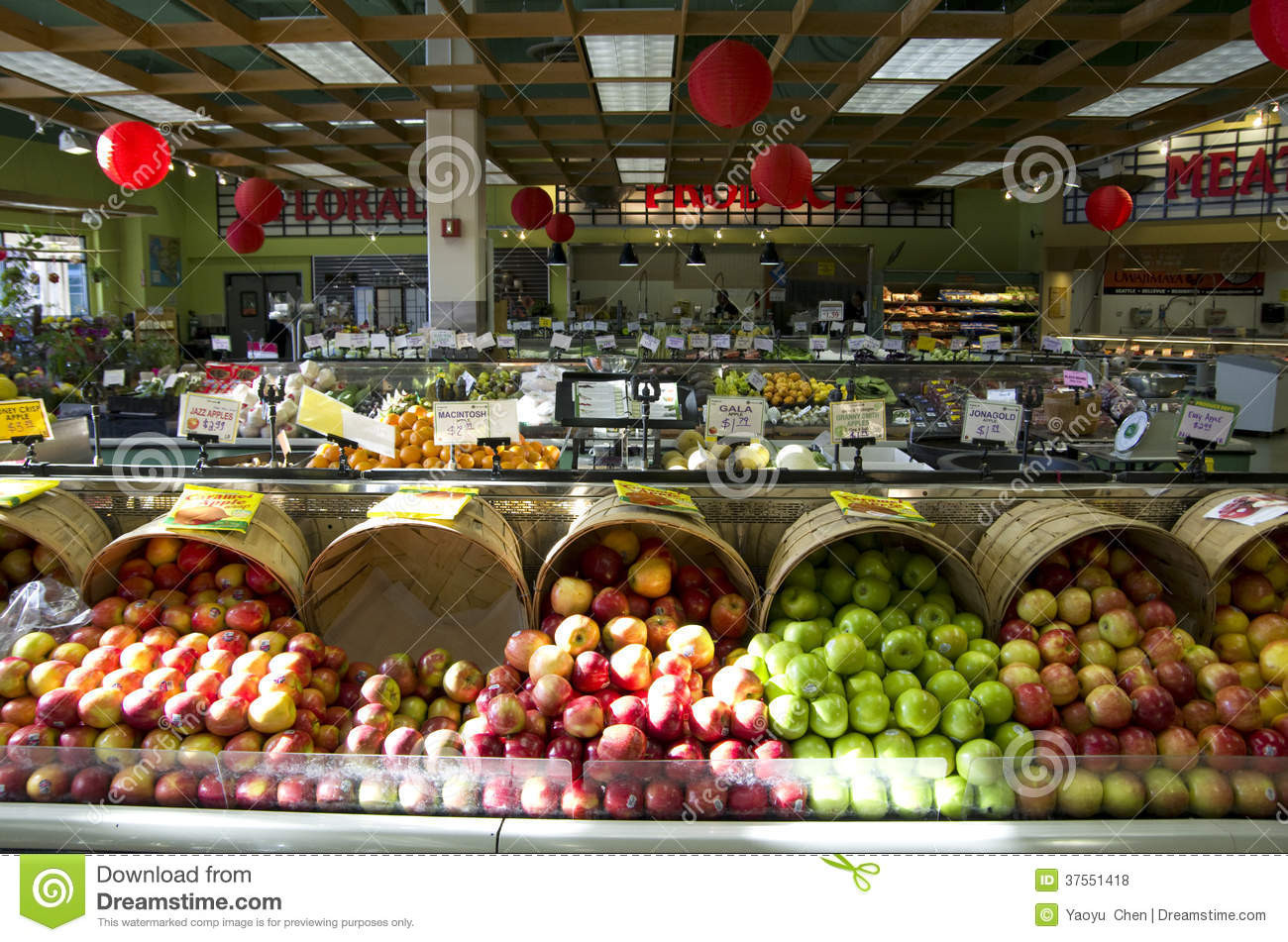 Healthy Snacks At Grocery Store  Healthy Food In Grocery Store Editorial Stock