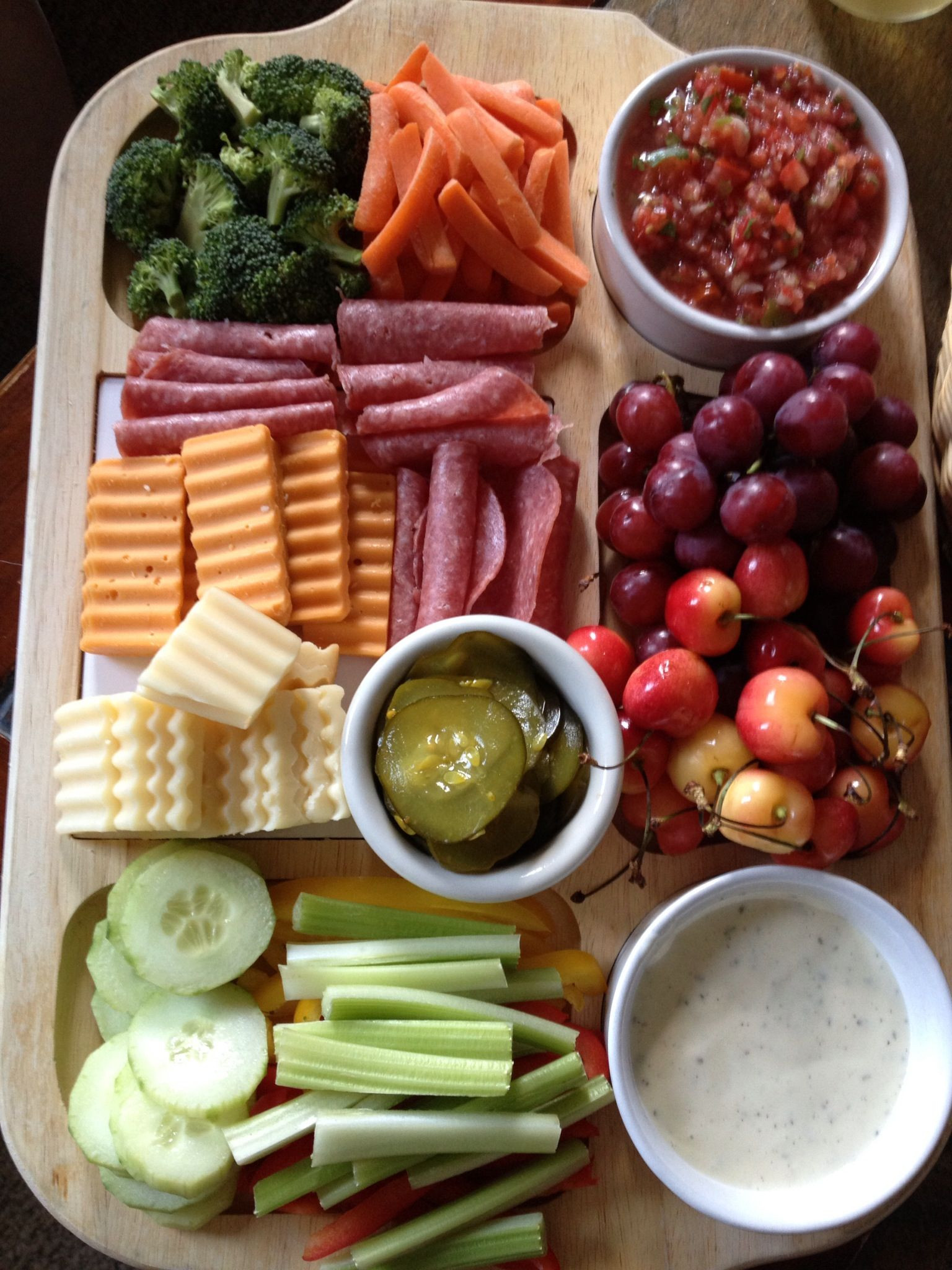 Healthy Snacks At Home  At home movie snacks with a glass of wine