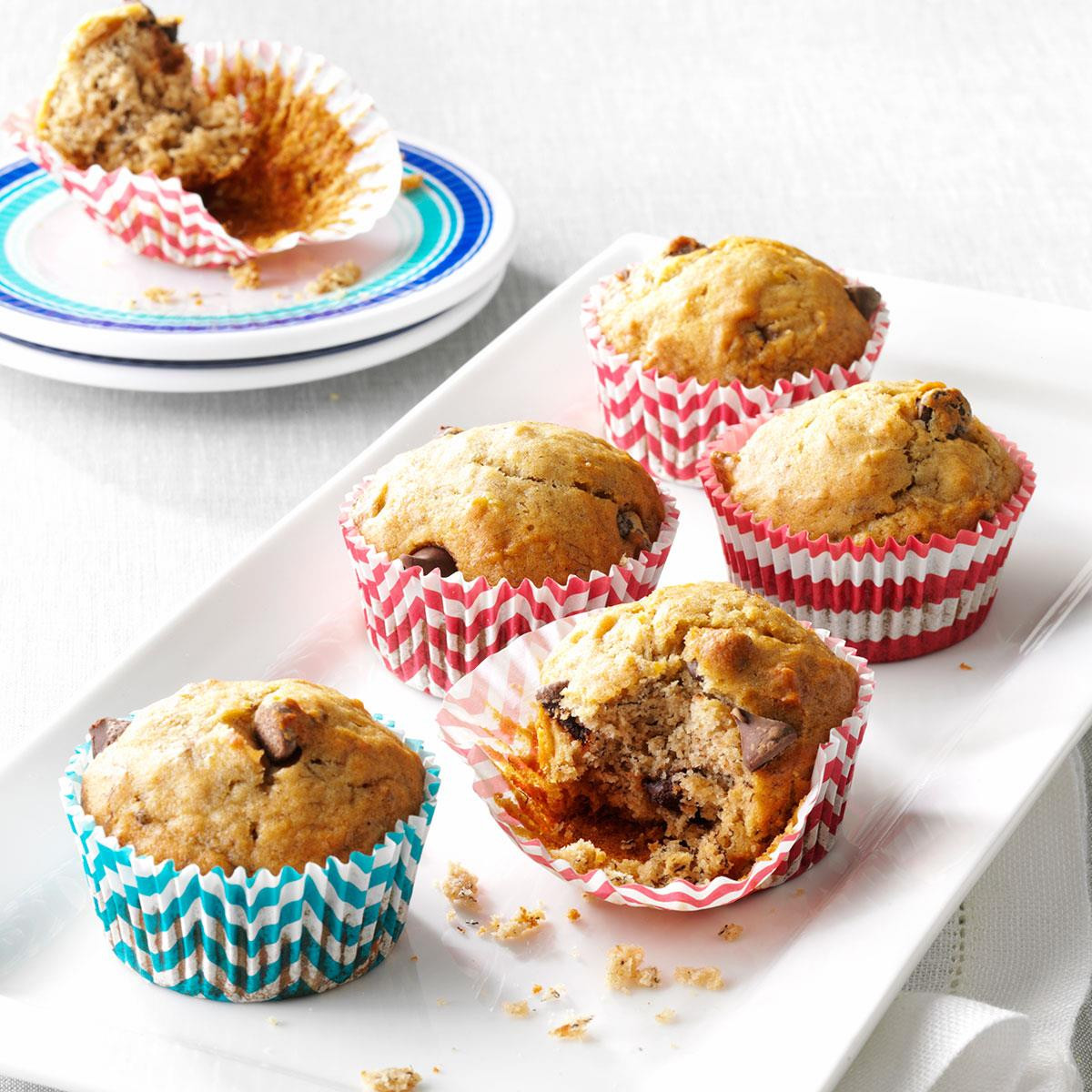 Healthy Snacks At Home  Favorite Banana Chip Muffins Recipe
