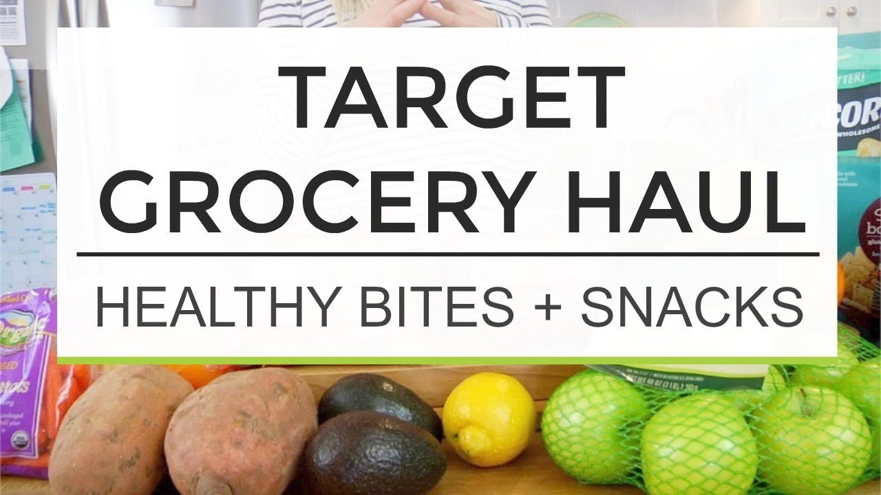 Healthy Snacks At Target  Tar Grocery Haul