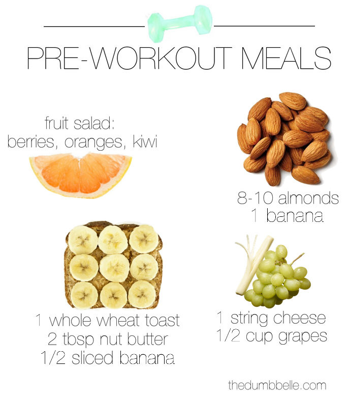 Healthy Snacks Before Workout  What To Eat Pre Workout The Dumbbelle