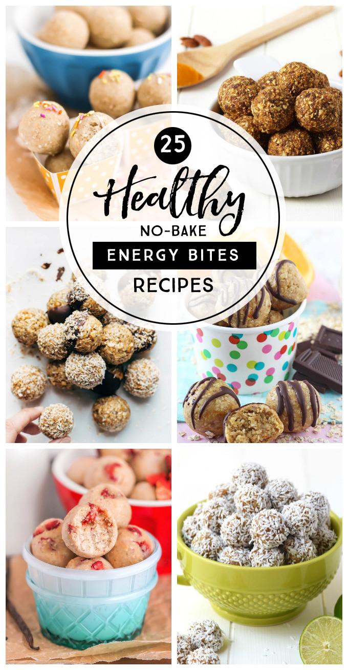 Healthy Snacks Between Meals  25 Healthy No Bake Energy Bites Recipes