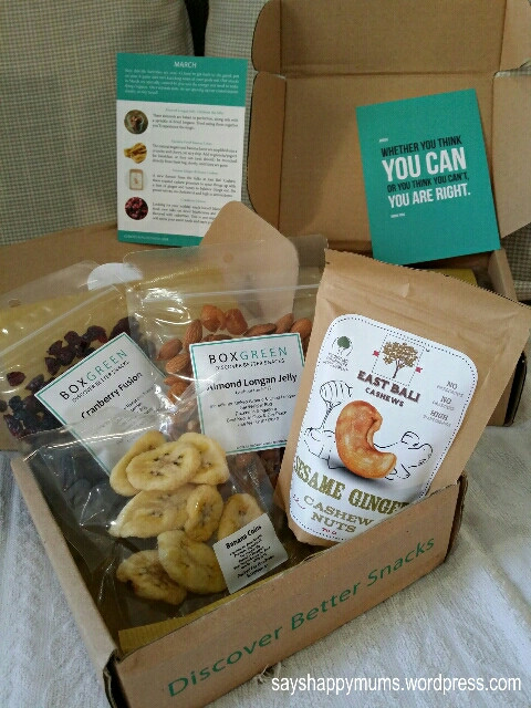 Healthy Snacks By Mail  Review BoxGreen SG Heard of Snacks Delivery by Mail