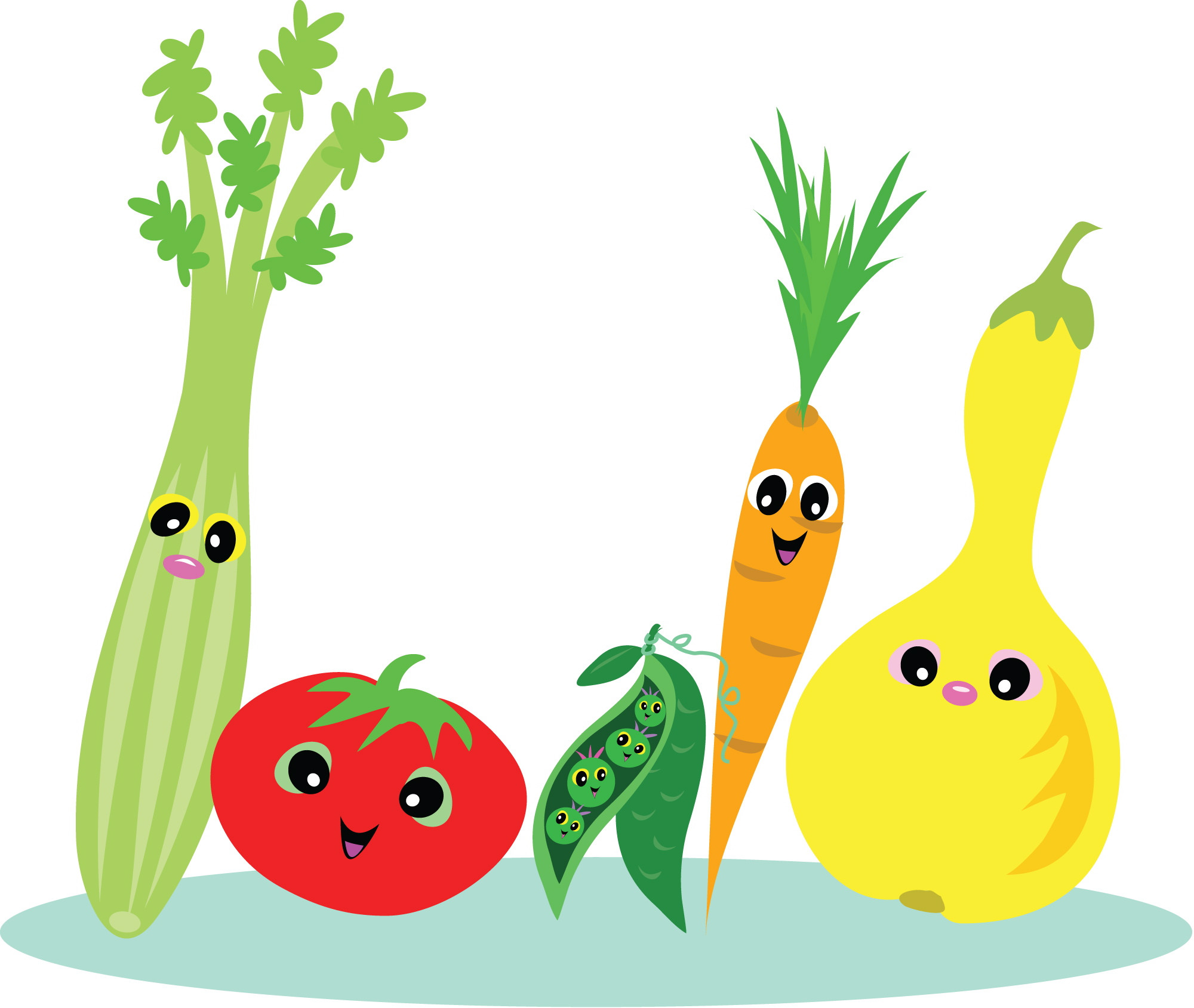 Healthy Snacks Clipart  Food clipart healthy eating Pencil and in color food
