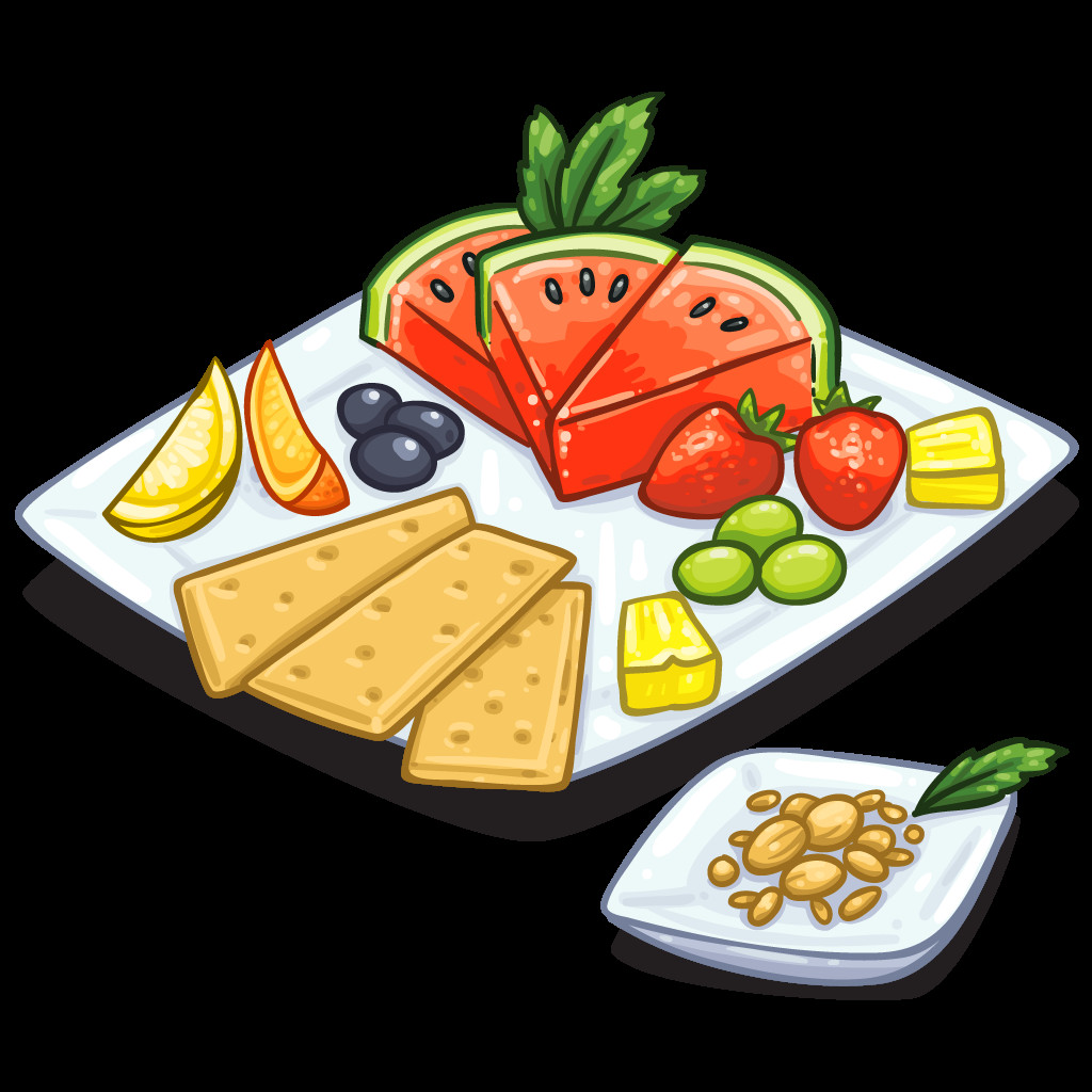 Healthy Snacks Clipart  Snack clipart healthy snack Pencil and in color snack