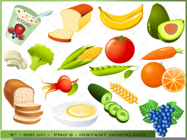 Healthy Snacks Clipart  Healthy Food Clipart