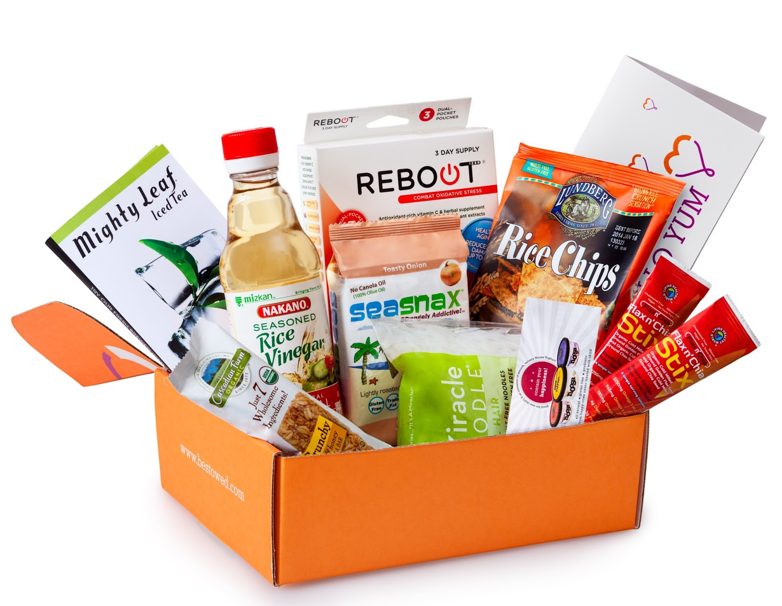 Healthy Snacks Delivered  Tickled Pink in the Rain Bestowed Box Review Healthy