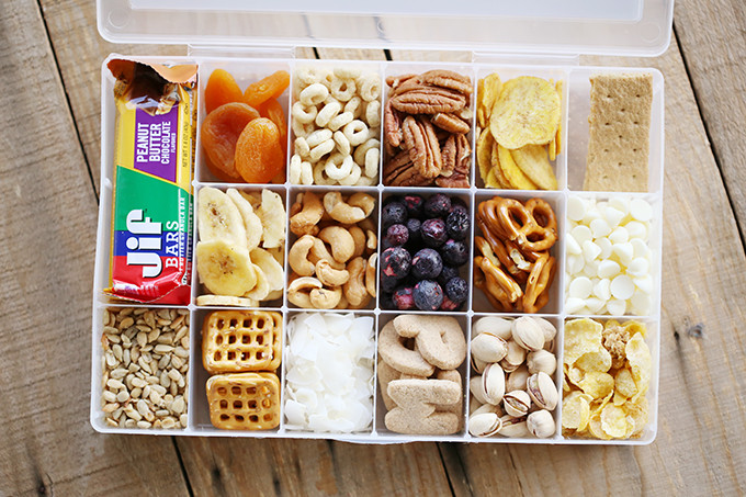 Healthy Snacks For Car Trips  Printable Road Trip Snacks Container See Vanessa Craft