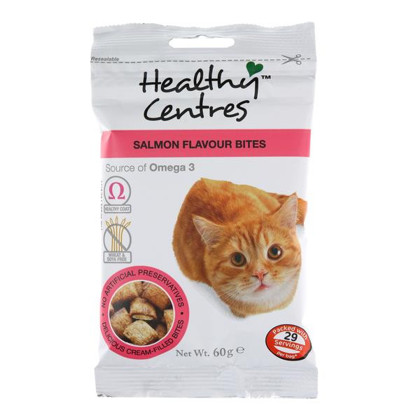 Healthy Snacks For Cats  Healthy Centres Salmon Cat Treats 60g – The Real Pet Co