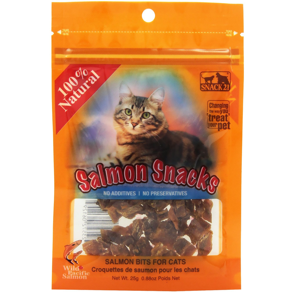 Healthy Snacks For Cats  Snack 21 Salmon Snacks for Cats 25 g