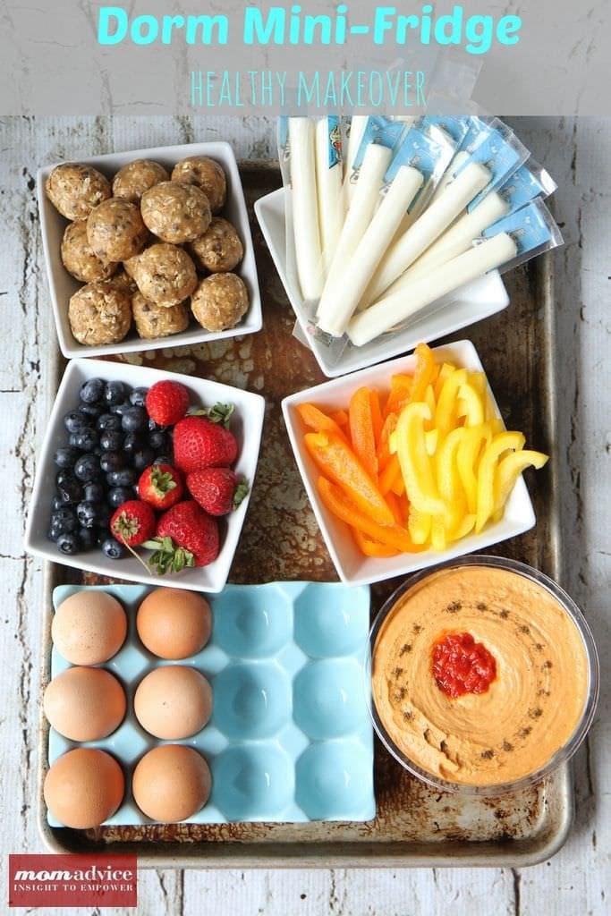 Healthy Snacks For College Dorms  Dorm Mini Fridge Healthy Makeover MomAdvice