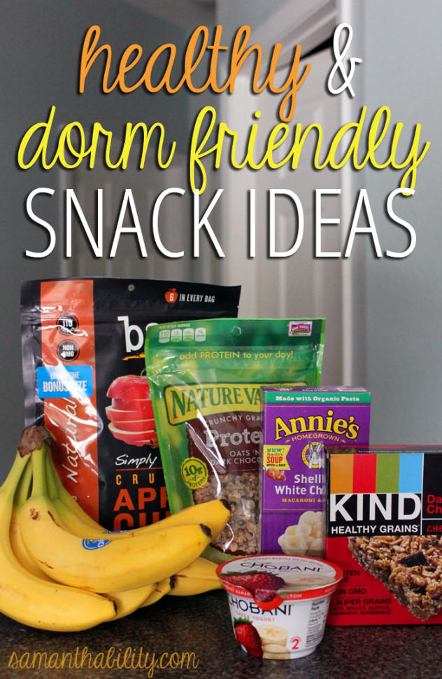 Healthy Snacks For College Dorms  Samanthability Healthy College Snack Ideas Samanthability