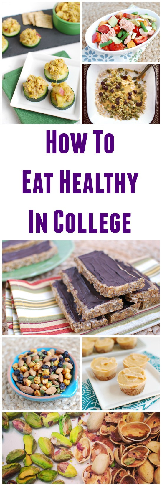 Healthy Snacks For College Dorms  How to Eat Healthy in College
