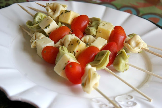 Healthy Snacks For Game Night  The 25 best Tortellini skewers ideas on Pinterest