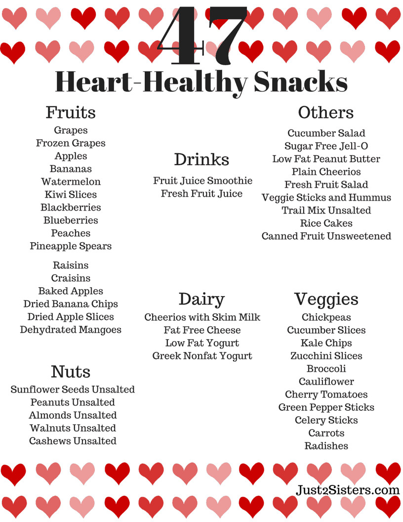 Healthy Snacks for Heart Patients the 20 Best Ideas for 47 Heart Healthy Snack Ideas Just 2 Sisters