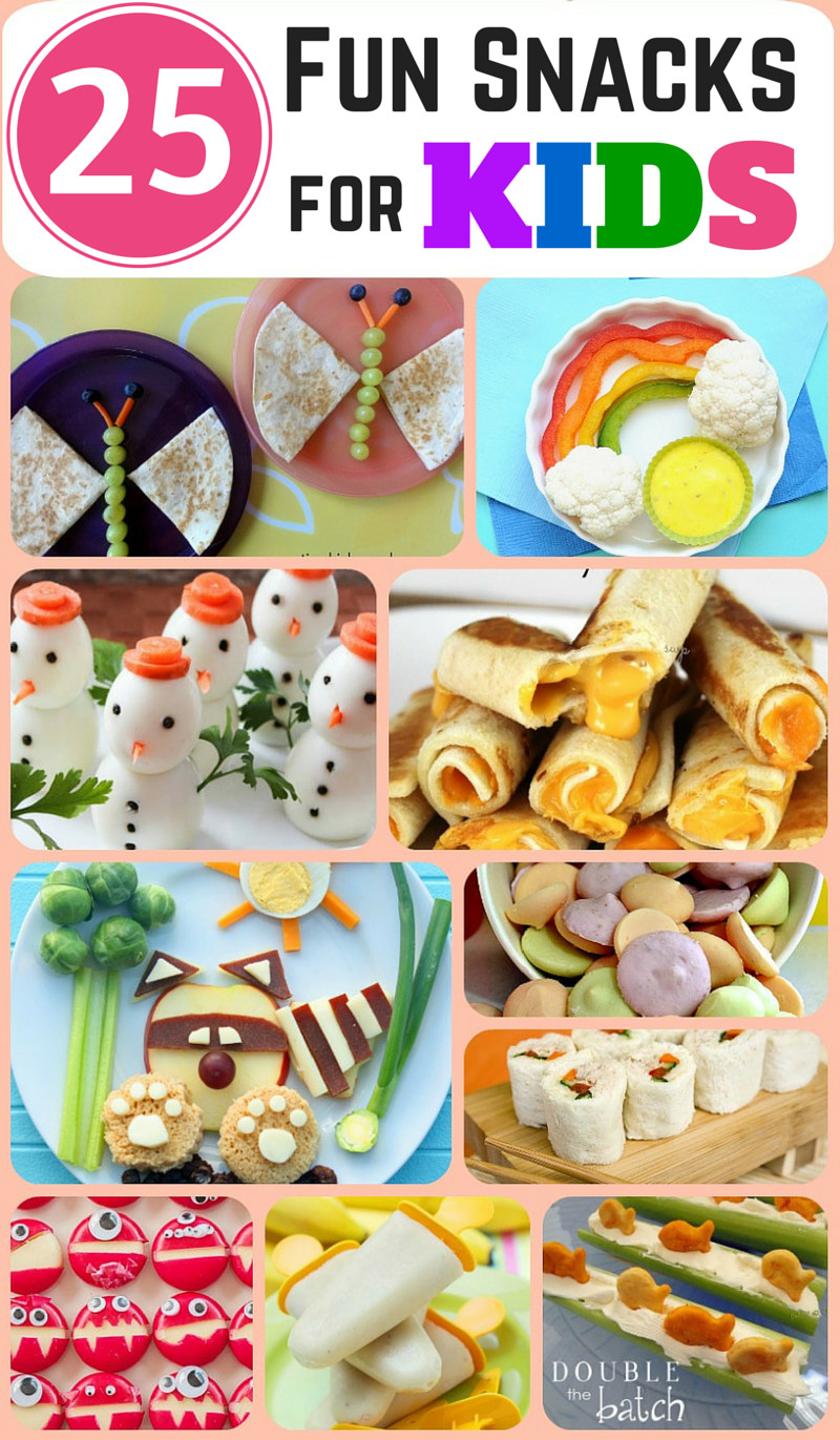 Healthy Snacks For Infants  25 Fun and Healthy Snacks for Kids Double the Batch