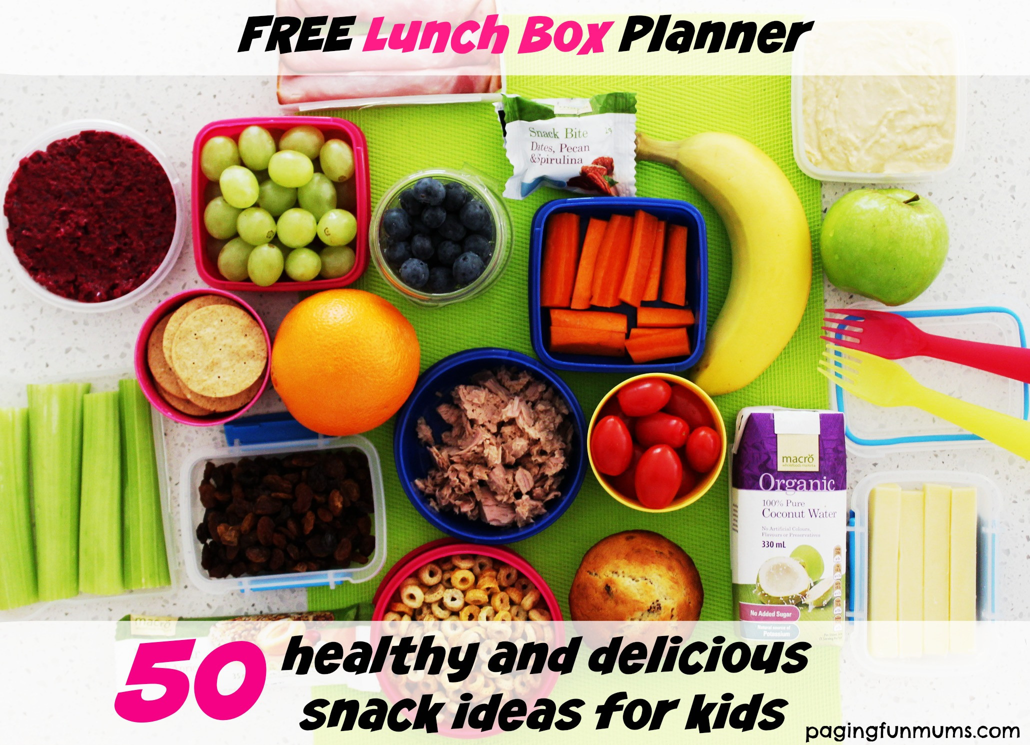 Healthy Snacks For Kids Lunch Boxes  50 healthy & delicious snack ideas for kids