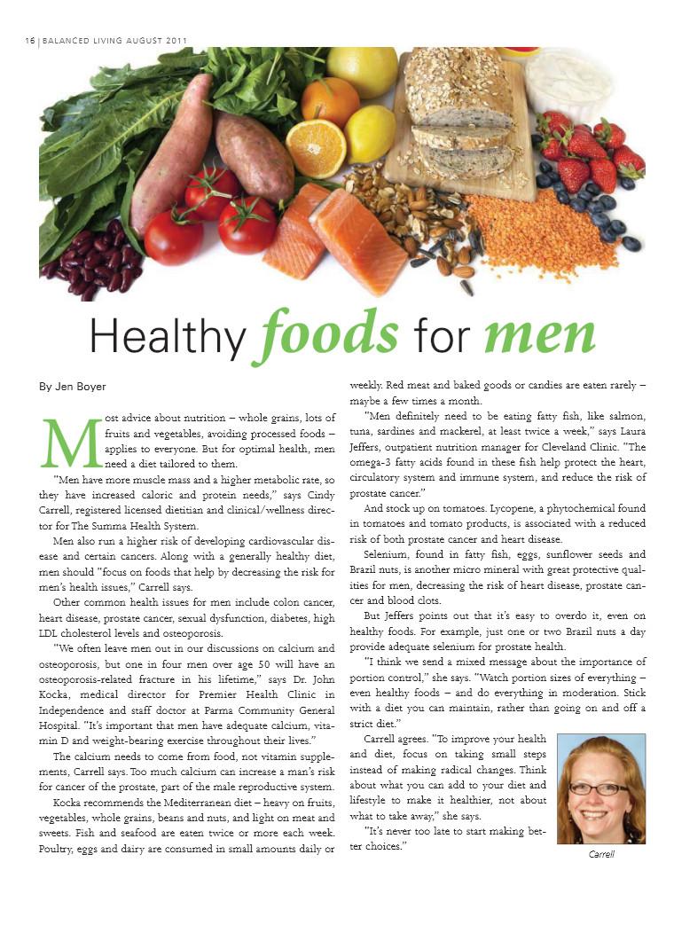Healthy Snacks For Men  August Balanced Living Healthy Foods for Men