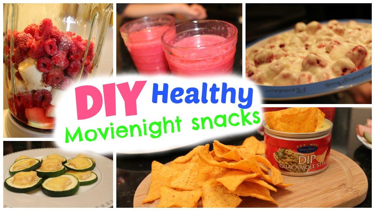 Healthy Snacks For Movies  DIY easy & healthy snacks ♡ Movie night treats