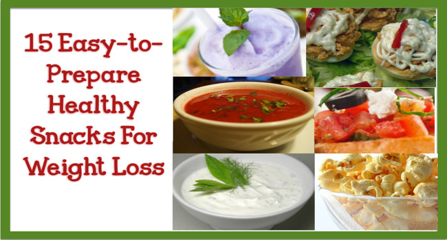 Healthy Snacks For On The Go  15 Easy to Prepare Healthy Snacks For Weight Loss Beyond