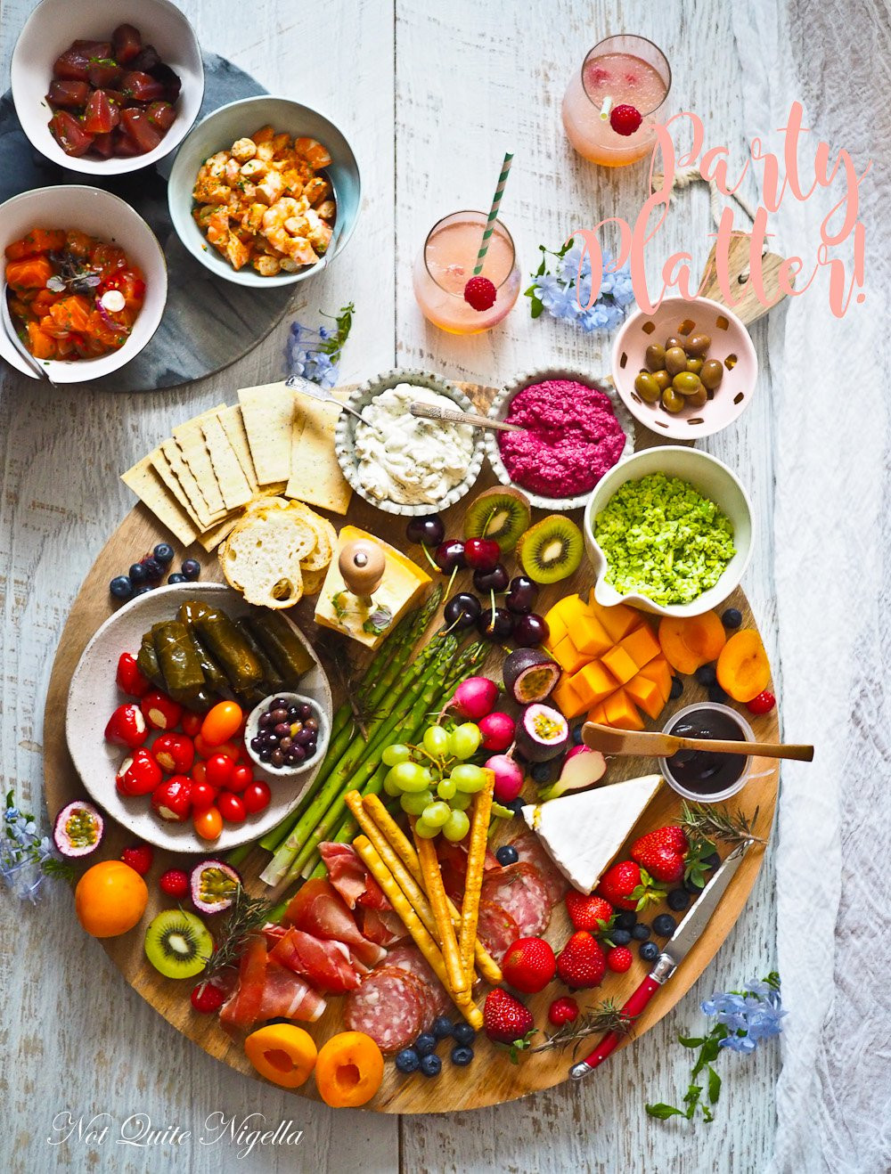 Healthy Snacks For Parties  Healthy New Year s Party Platter Not Quite Nigella