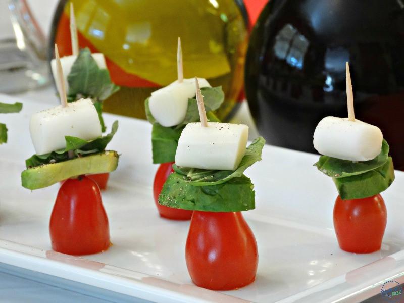 Healthy Snacks For Parties  Healthy Snack Ideas for Parties Caprese Avocado Skewers