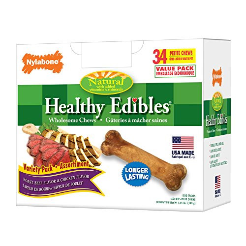 Healthy Snacks For Puppies  Nylabone Healthy Edibles Natural Dog Chews Roast Beef and