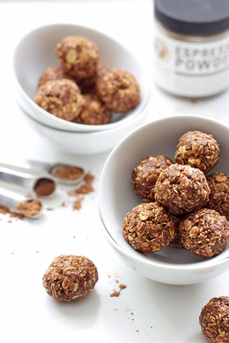 Healthy Snacks For Runners  Peanut Butter Mocha Energy Bites Recipe Runner