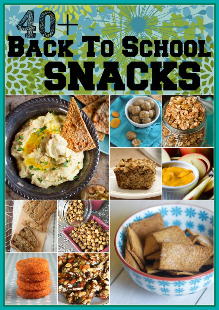 Healthy Snacks For School  back to school snacks Healthy Seasonal Recipes
