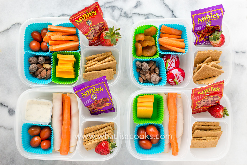 Healthy Snacks For School  School Lunch Day 63 Simple snack boxes — What Lisa Cooks