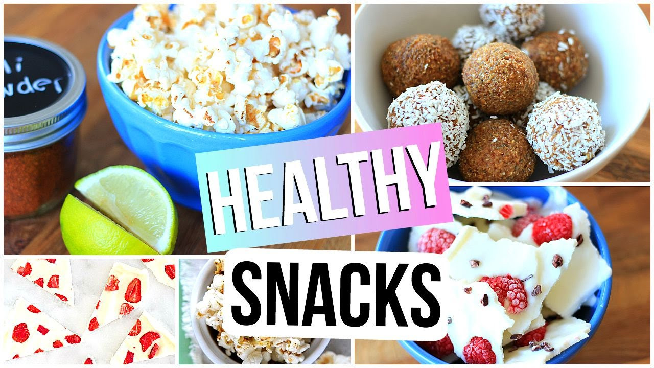 Healthy Snacks For School  HEALTHY SNACK IDEAS for School and Studying Easy & Quick
