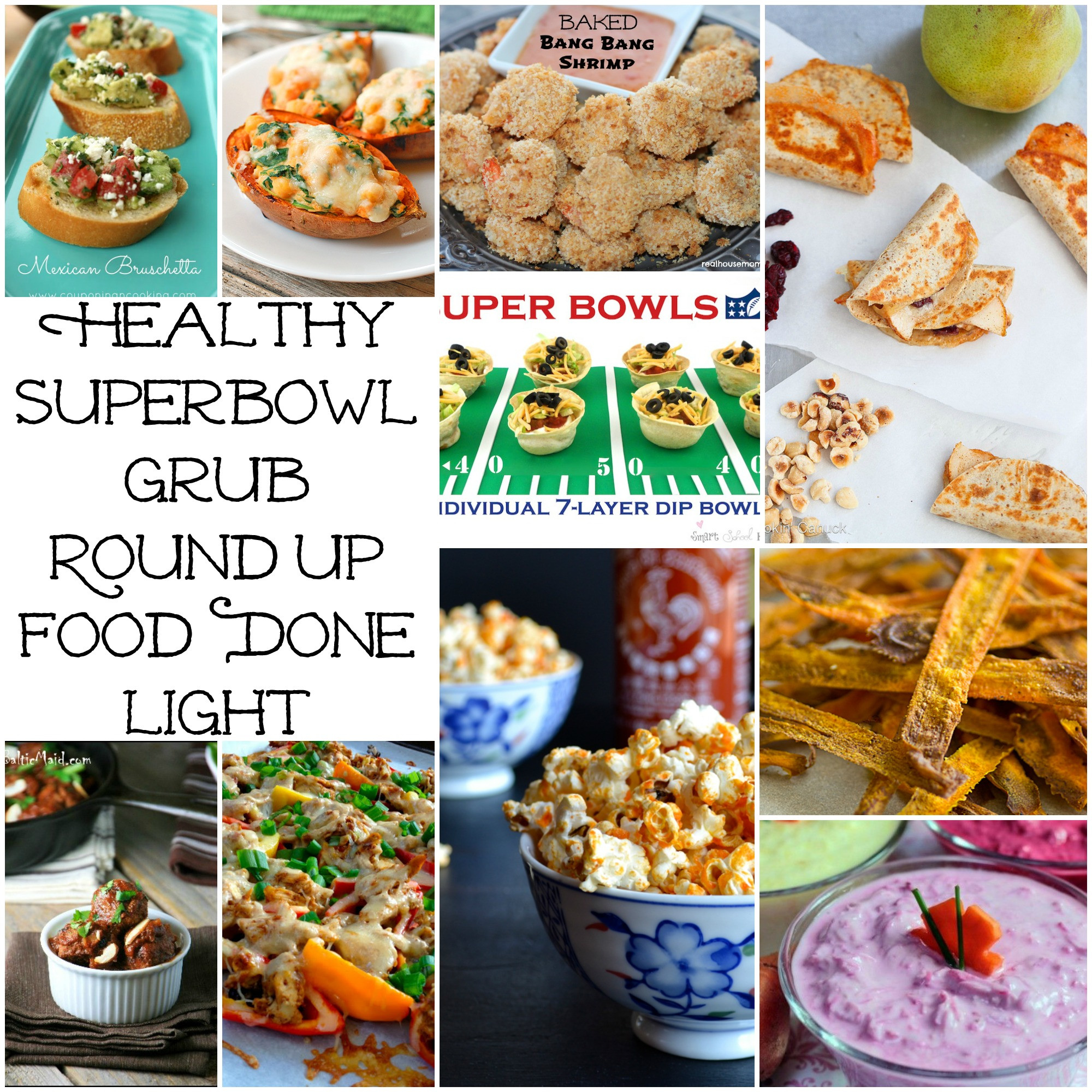 Healthy Snacks For Superbowl Party  Healthy Superbowl Party Recipe Round Up Food Done Light