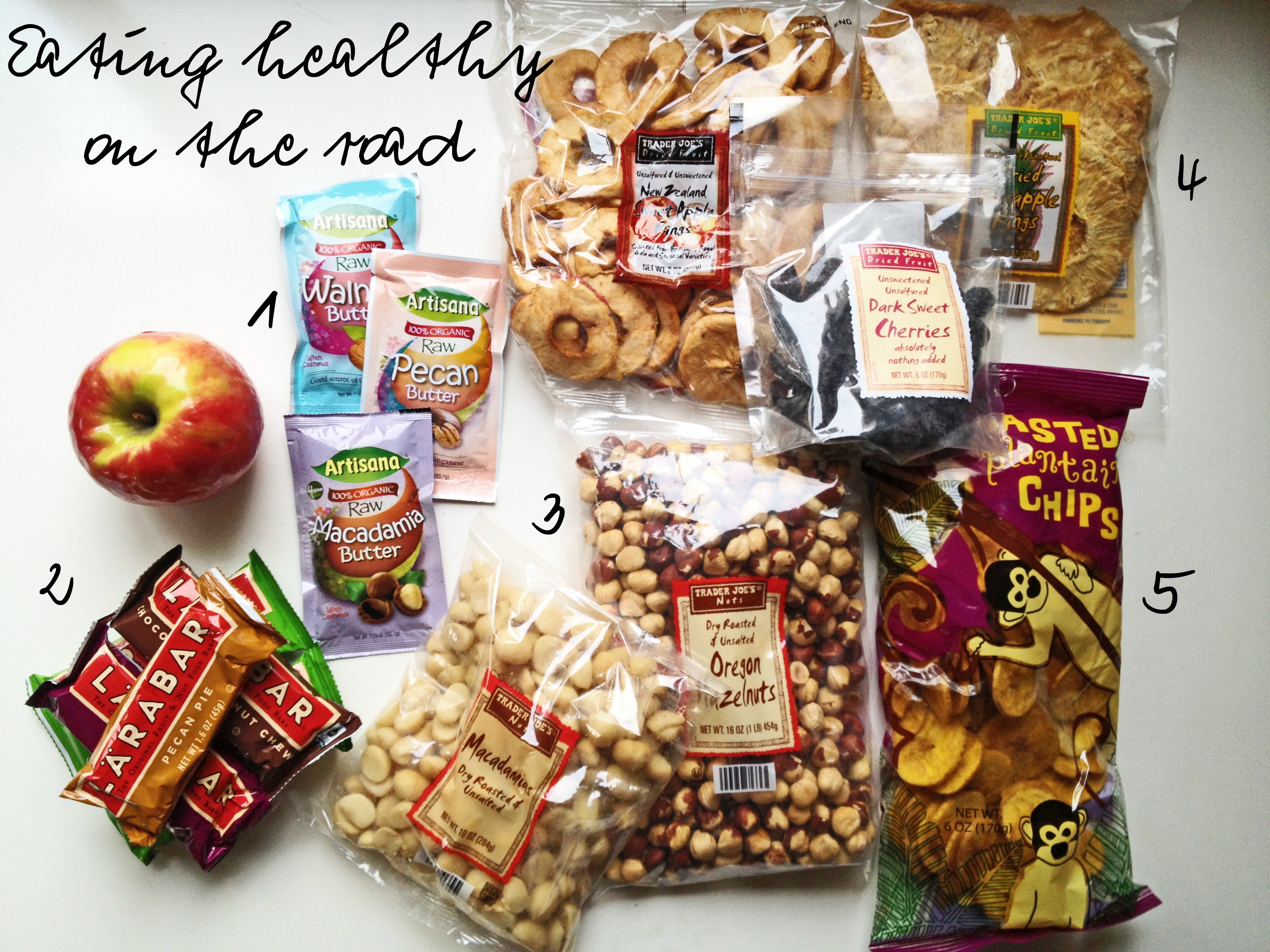 Healthy Snacks For The Road  The Road The Go Daily Cup of Asheejojo