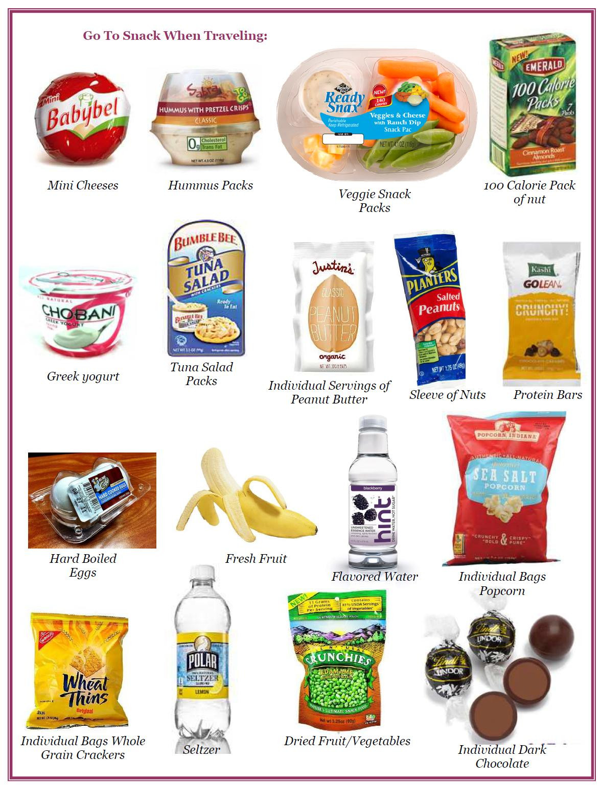 Healthy Snacks For Traveling  Healthy Snacks Will Travel
