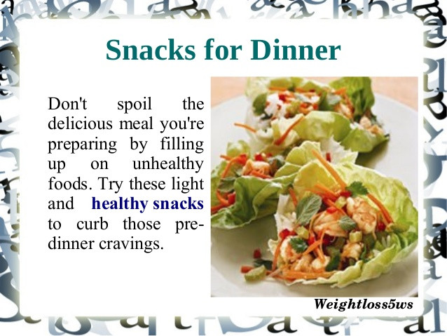 Healthy Snacks For Weight Loss  Healthy snacks for weight loss