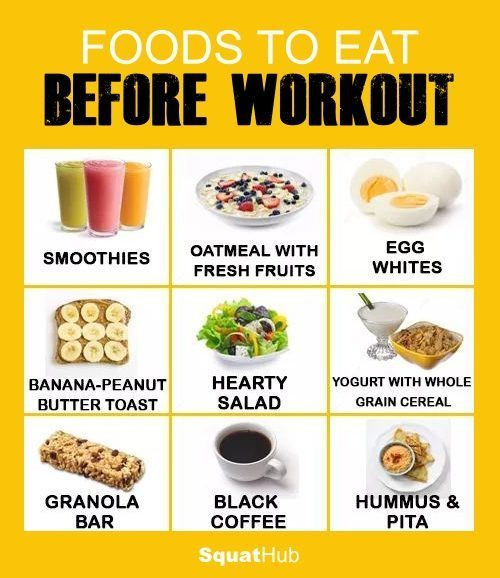 Healthy Snacks For Working Out  9 Healthy Foods To Eat Before Workout • SquatHub