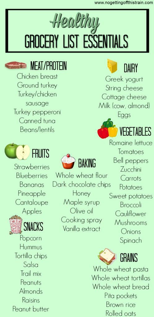 Healthy Snacks Grocery List  Want to eat healthier but don t know where to start