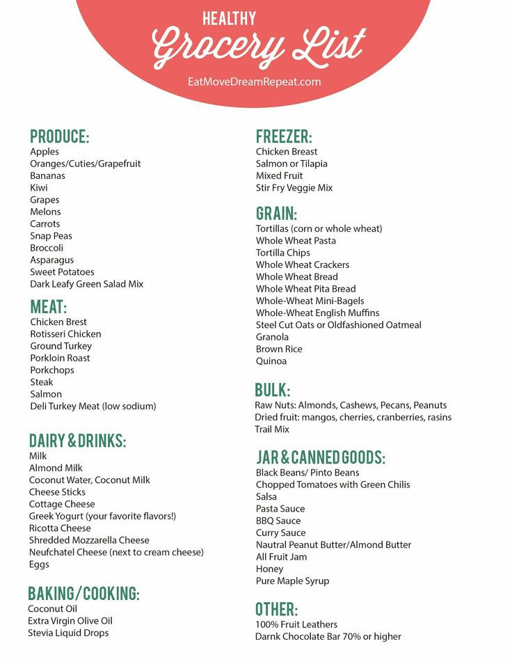 Healthy Snacks Grocery List top 20 Healthy Snack Grocery List
