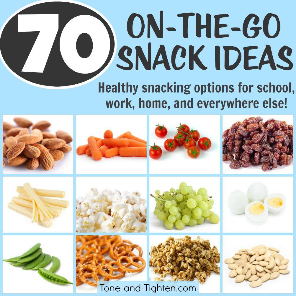 Healthy Snacks Ideas  70 Portable Healthy Snacks