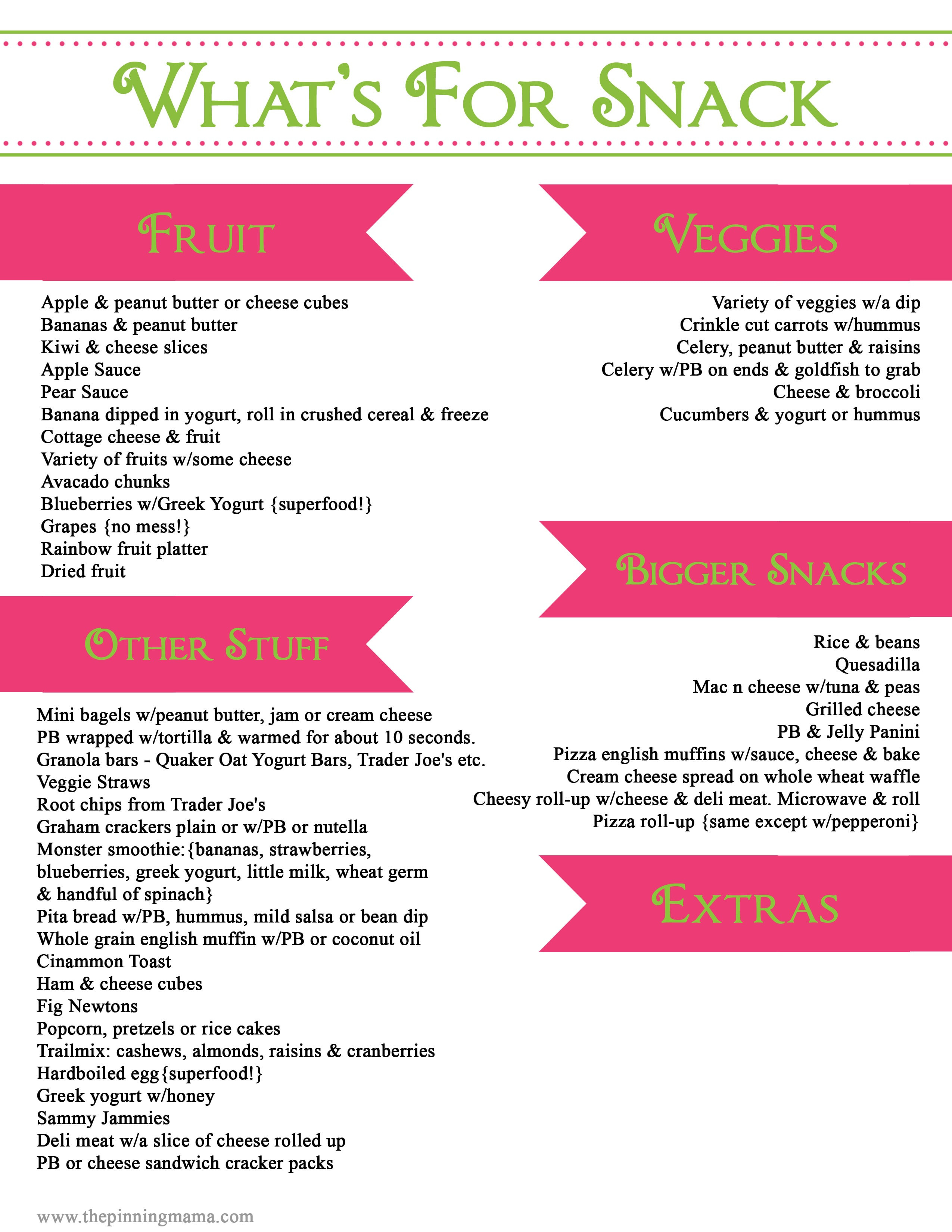 Healthy Snacks List For Adults  Healthy Snacks for Kids for Work for School for Weight