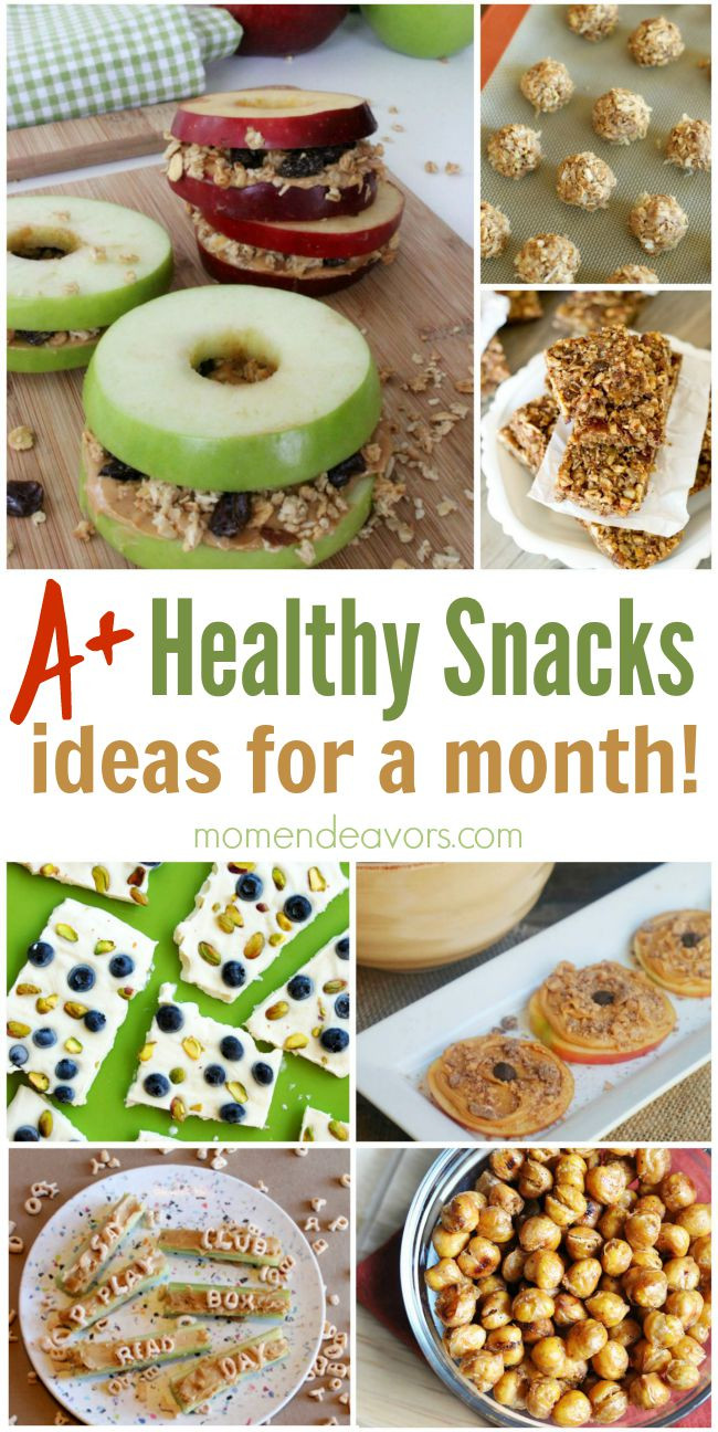 Healthy Snacks Monthly  A Month of Healthy Snack Ideas – Easy & Creative Ideas