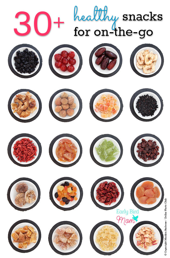 Healthy Snacks On The Go For Adults  30 no mess healthy snack ideas for on the go