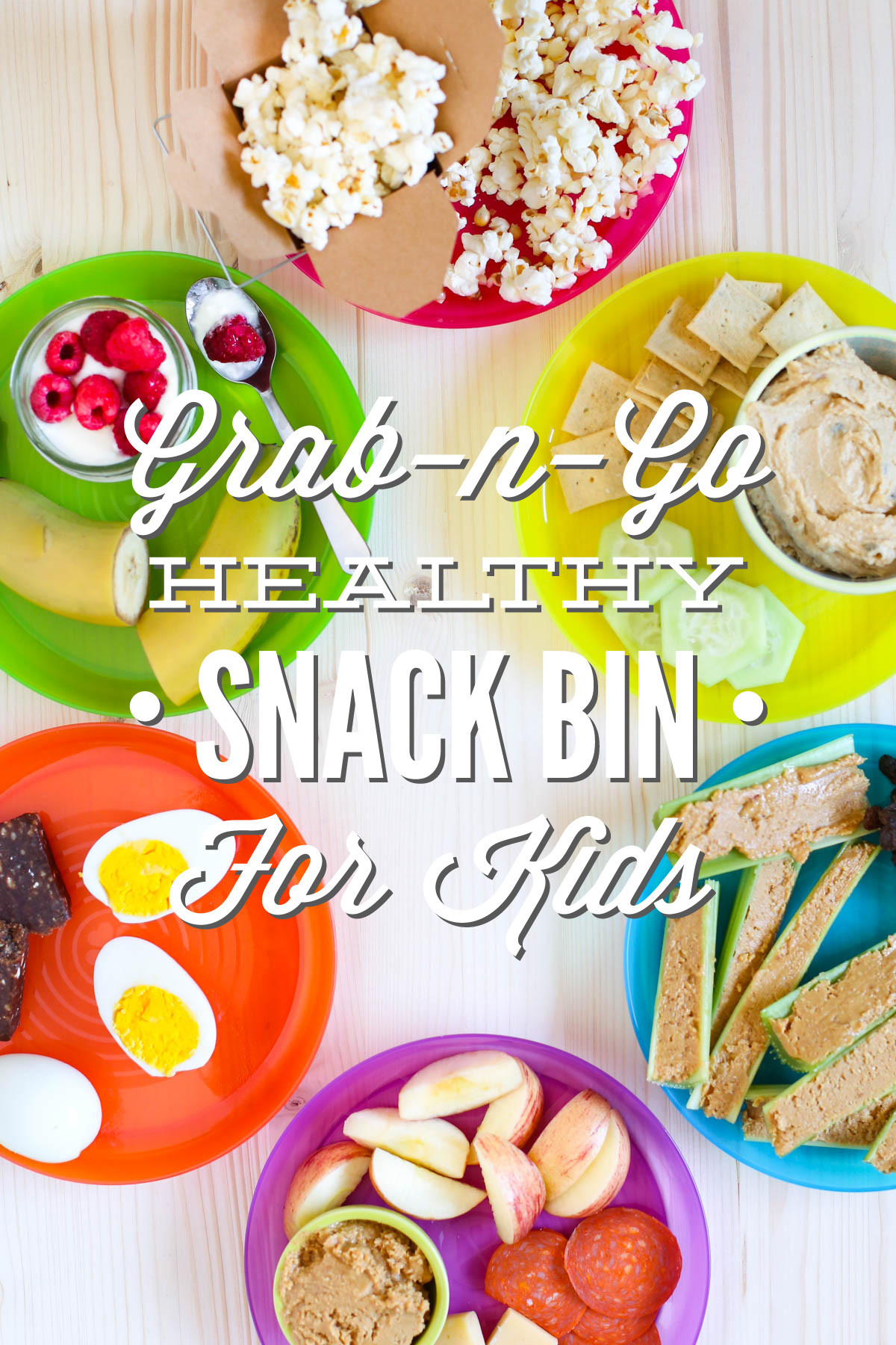 Healthy Snacks On The Go  Simplify Snack Time Grab n Go Healthy Snack Bin for Kids