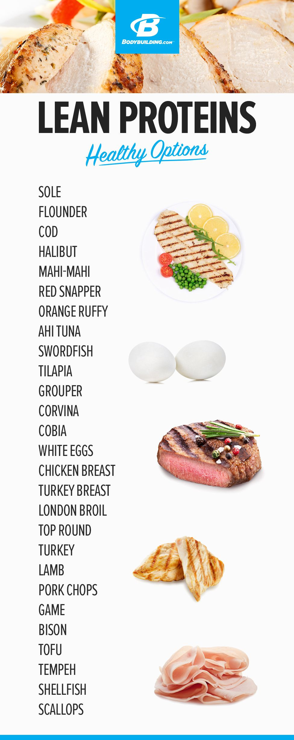 Healthy Snacks Protein  LEAN PROTEIN HEALTHY OPTIONS Every food item you need