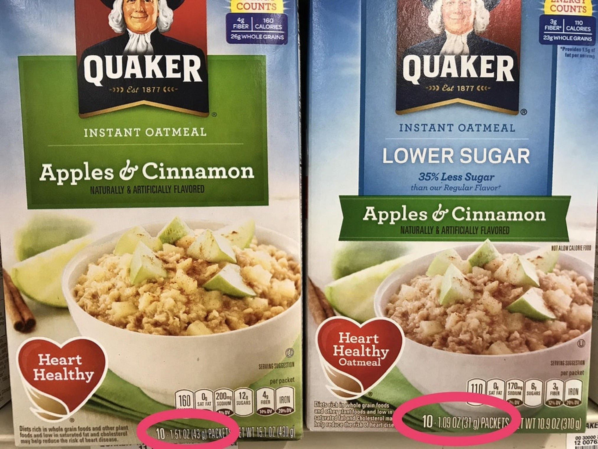 Healthy Snacks Reddit  Quaker Oats boast 35 percent less sugar actually just a