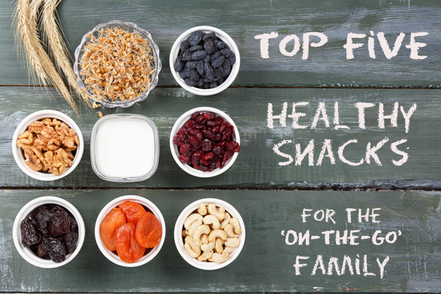 Healthy Snacks Throughout The Day  Top Five Healthy Snacks for the ' The Go' Family Dr