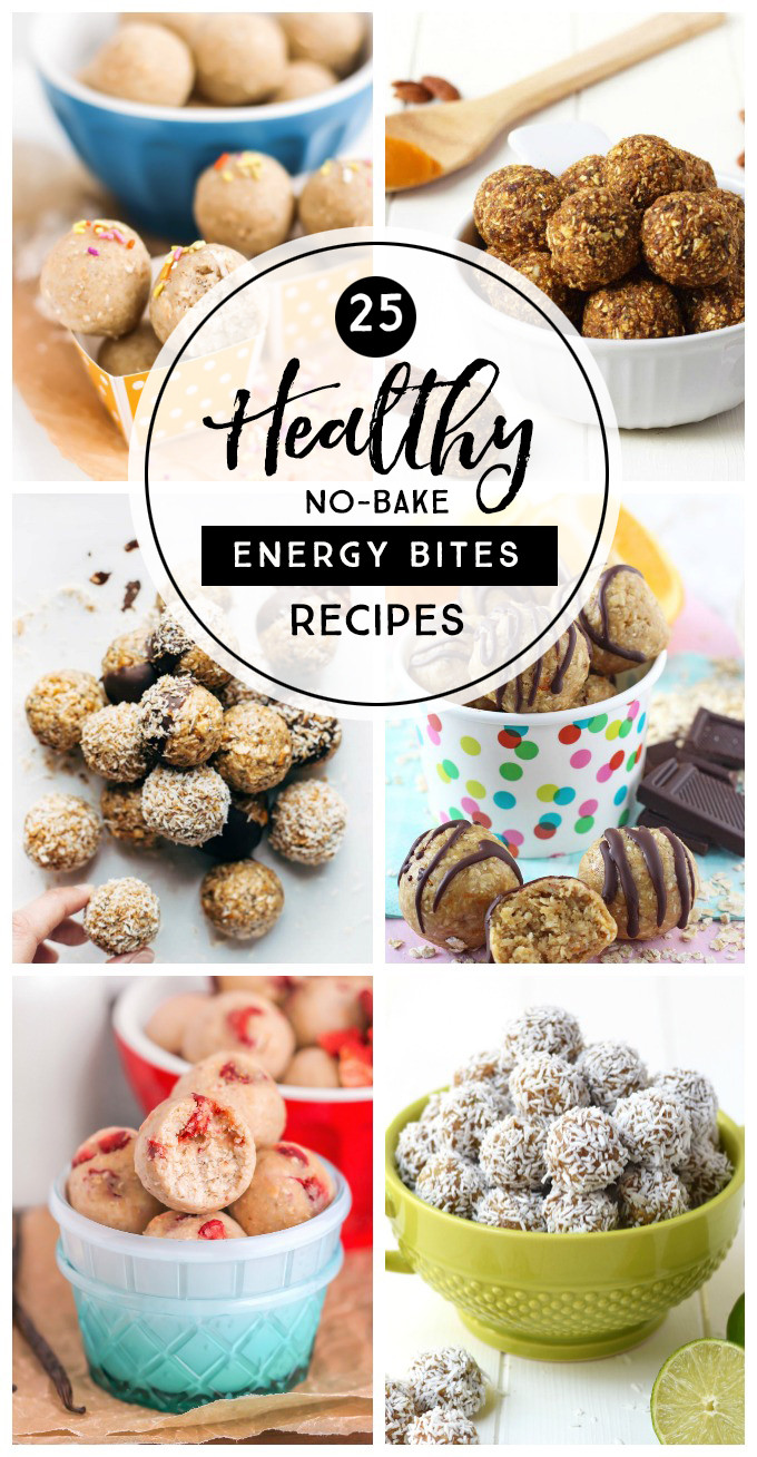 Healthy Snacks To Eat Between Meals  25 Healthy No Bake Energy Bites Recipes