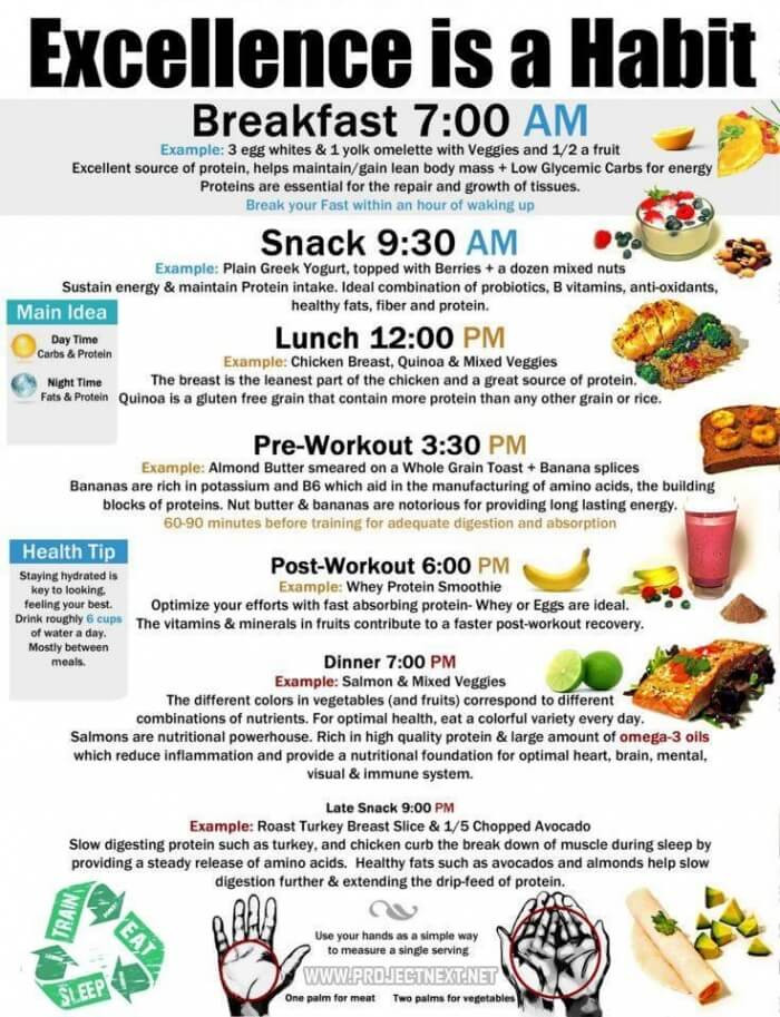 Healthy Snacks To Eat During The Day  Execellence Is A Habit Healthy Fitness Recipe Breakfast