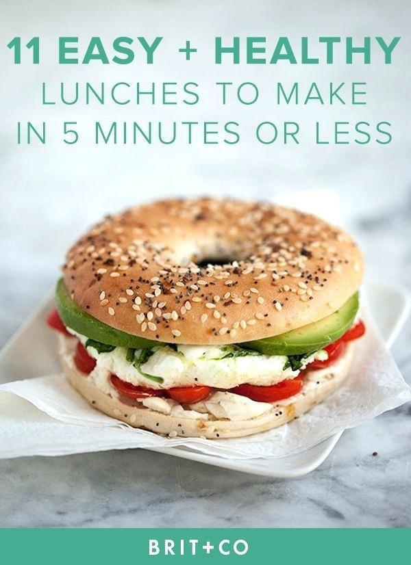 Healthy Snacks To Make At Home  Food To Make At Home For Lunch Healthy Lunch Recipes Food