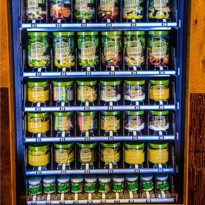 Healthy Snacks Vending Machine  Healthy Lunch Options Salad Vending Machine
